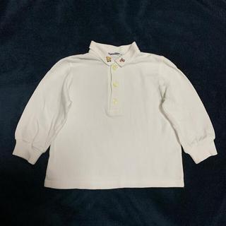 ファミリア(familiar)のポロシャツ 長袖 白 ホワイト 無地 刺繍 ファミちゃん 80 ファミリア(シャツ/カットソー)