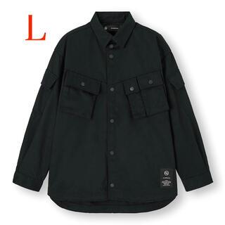 ジーユー(GU)のundercover×GU ミリタリージャケット L ブラック (ミリタリージャケット)
