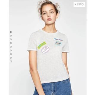 ザラ(ZARA)のZARAワッペンTシャツザラシルバーラメ(Tシャツ(半袖/袖なし))