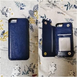 iPhoneSE/iPhone5S レザーケース、カード入れ、マグネットフラップ