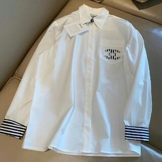 シャネル(CHANEL)の限定高品質刺繡ロゴストライプデザイン長袖シャツ(シャツ/ブラウス(長袖/七分))