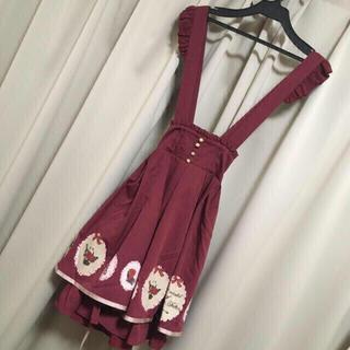 Amavel - アマベル/赤ずきんプリント吊りスカート赤/タグ付新品/ロリータ/アンクルージュ