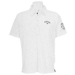 Callaway Golf - Callaway Golf ドットプリント半袖共襟ポロシャツ