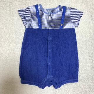 ファミリア(familiar)のロンパース  半袖 ベビーグロー パジャマ 70 80 85 ブルー 青 星(ロンパース)