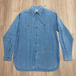 Sugar Cane - シュガーケーン(SUGAR CANE) ブルー シャンブレーシャツ