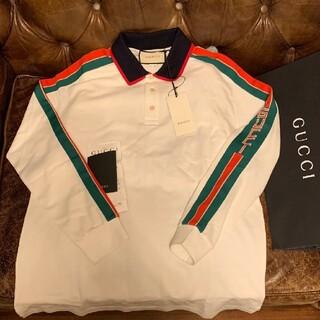 Gucci - GUCCI 長袖 ポロシャツ 白 M