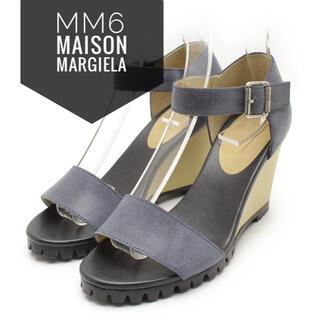 エムエムシックス(MM6)のMM6 Maison Margiela【美品】オープントゥ ヒール  サンダル(サンダル)