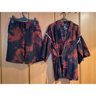 サカゼンで購入 ブラック レッド メンズ 甚平(浴衣)