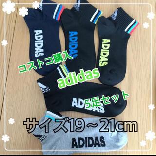 adidas - コストコ adidas アディダス 靴下 ソックス 5足セット 19〜21cm