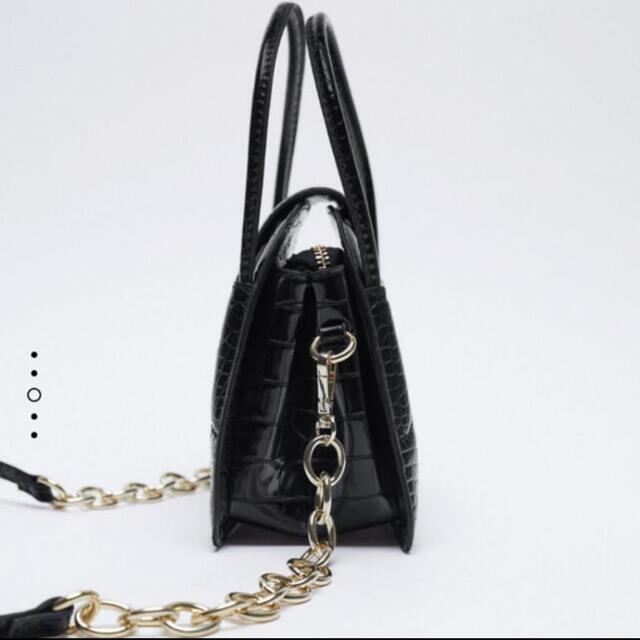 ZARA(ザラ)のZARA アニマル柄 ミニ シティー バック  レディースのバッグ(ショルダーバッグ)の商品写真