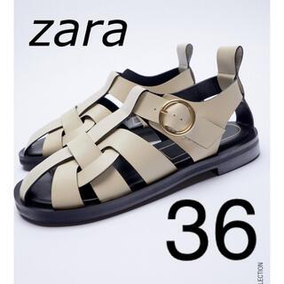 ZARA - ラスト一点‼️ ZARA レザーフラットサンダル 36