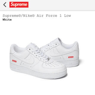 Supreme - Nike Air Force1 supreme white 27cm