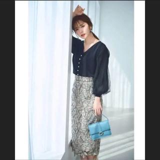 Apuweiser-riche - 今期大花レースタイトスカート