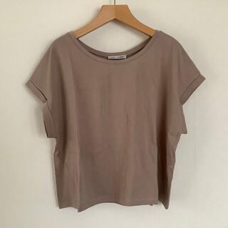 ザラ(ZARA)の未使用タグ付き ZARA Tシャツ M ベージュ(Tシャツ(半袖/袖なし))