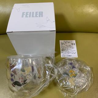 FEILER - 新品未使用 フェイラー アミカルモン柄 茶漉し付きガラスカップ