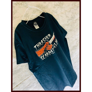 THRASHER - スラッシャー Tシャツ FR2 lonely論理 ブラックアイパッチ サプール