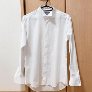 【美品】新郎 ウイングカラーシャツ Lサイズ ホワイト(その他)