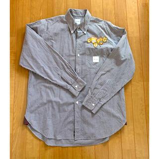 カールヘルム(Karl Helmut)のカールヘルム ホワイト×ブラウン ボタンダウンチェックシャツ即購入×(シャツ)