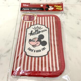 ディズニー(Disney)のレトロミッキー Disney 母子手帳 通帳 ケース(母子手帳ケース)