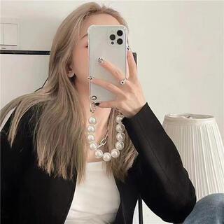 パール ストラップ オシャレ スマホケース iPhoneケース