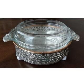 ツインバード(TWINBIRD)の耐熱ガラス鍋 飾り台付き(調理道具/製菓道具)
