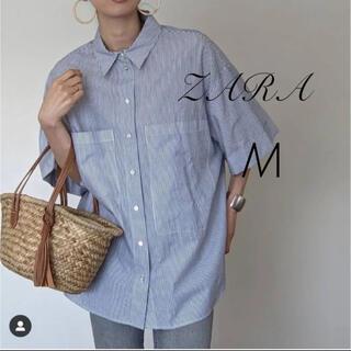 ZARA - ZARA オーバーサイズポプリンシャツ M
