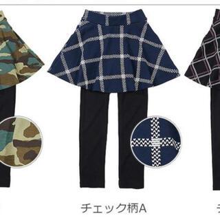 デビロック(DEVILOCK)の新品スカッツ スカート ロングパンツ パンツ 女の子 プリント10分丈(パンツ/スパッツ)