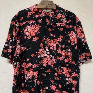 ART VINTAGE - 90s 希少 アロハシャツ 総柄シャツ 花柄 桜 サクラ 和柄 レーヨンシャツ