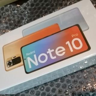 アンドロイド(ANDROID)の【新品未開封】Xiaomi Redmi Note 10 Pro オレンジ(スマートフォン本体)