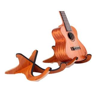 ウクレレスタンド バイオリン マンドリン ギター 木製 折りたたみ式 ライブ(その他)