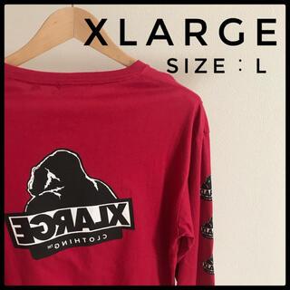 エクストララージ(XLARGE)の激レア!XLARGE エクストララージ バックプリントロングスリーブTシャツ(Tシャツ/カットソー(七分/長袖))
