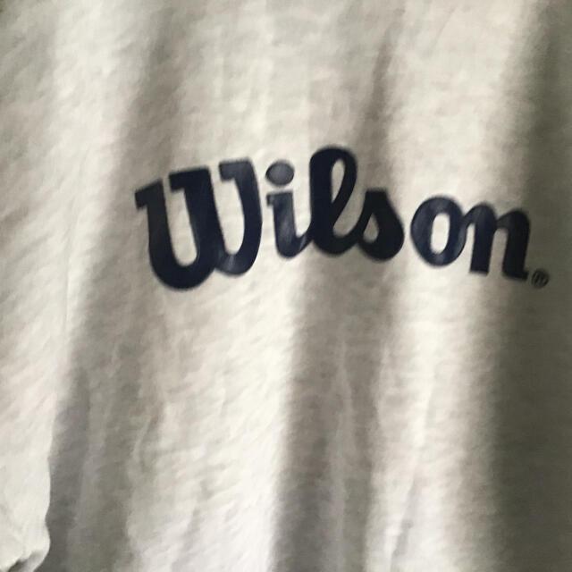 wilson(ウィルソン)のWilsonウィルソン スウェット トレーナー L オフホワイト ビックサイズ メンズのトップス(スウェット)の商品写真