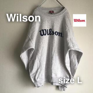 ウィルソン(wilson)のWilsonウィルソン スウェット トレーナー L オフホワイト ビックサイズ(スウェット)