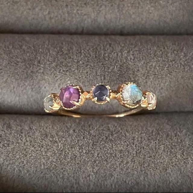 agete(アガット)のアガット マルチカラー リング 13号 レディースのアクセサリー(リング(指輪))の商品写真