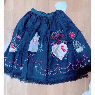 ベイビーザスターズシャインブライト(BABY,THE STARS SHINE BRIGHT)のBABY 赤ずきんちゃんスカート 新品タグ付き ロリータ(ひざ丈スカート)