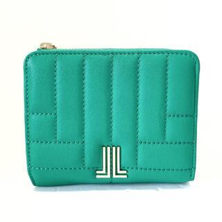 ランバンオンブルー(LANVIN en Bleu)のランバンオンブルー美品  - グリーン(財布)