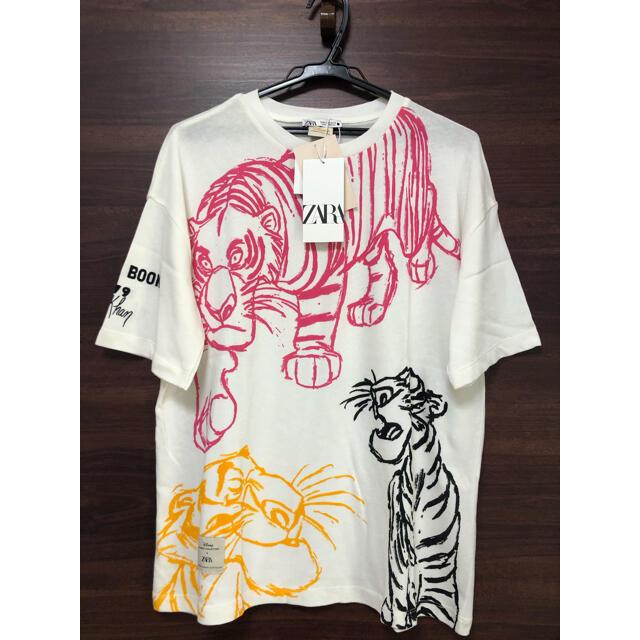 ZARA(ザラ)の未使用タグ付 ZARA ディズニー 映画 ジャングルブック Tシャツ M レディースのトップス(Tシャツ(半袖/袖なし))の商品写真