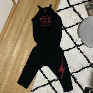 ヒステリックミニ(HYSTERIC MINI)のヒスミニ オーバーオール 繋ぎ セットアップ ヒステリックミニ パンツ(Tシャツ/カットソー)