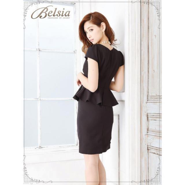 dazzy store(デイジーストア)のタイトペプラムドレス ブラック レディースのフォーマル/ドレス(ミニドレス)の商品写真