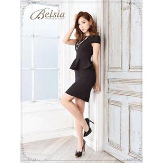 dazzy store - タイトペプラムドレス ブラック