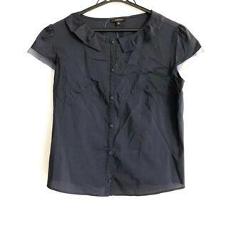 トッカ(TOCCA)のトッカ サイズ0 XS レディース - ネイビー(シャツ/ブラウス(半袖/袖なし))