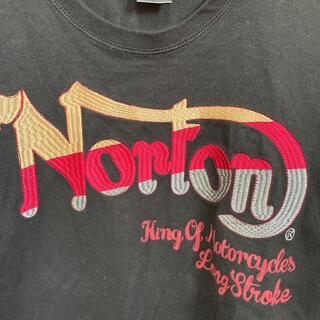 ノートン Norton メンズ 長袖ティシャツ 刺繍 ロングティシャツ