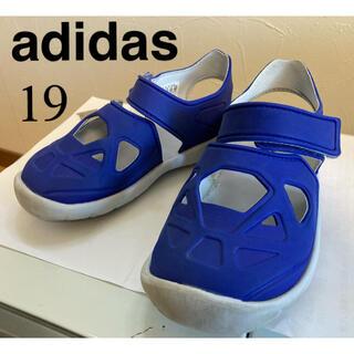 アディダス(adidas)のアディダス 19㎝ ブルー サンダル  F34800(サンダル)