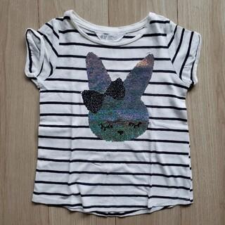 エイチアンドエム(H&M)のスパンコールTシャツ 110(Tシャツ/カットソー)