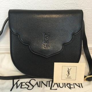 Saint Laurent - 極美品♡希少 YSLイヴサンローラン レザー ブラック ショルダーバッグ