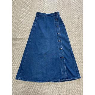 ジーユー(GU)のGU デニムロングスカート デニムスカート Mサイズ(ロングスカート)