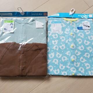 ニシマツヤ(西松屋)の新品 西松屋 半袖プレオール コンビドレス 50-60(カバーオール)