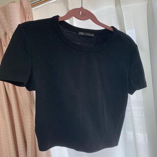 ザラ(ZARA)の丈短め トップス 今月まで!(Tシャツ(半袖/袖なし))