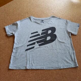 ニューバランス(New Balance)の「未使用」new balance Tシャツ Mサイズ グレー(トレーニング用品)