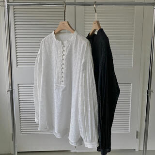 TODAYFUL - 【 willfully】stand collar cotton dobby BL